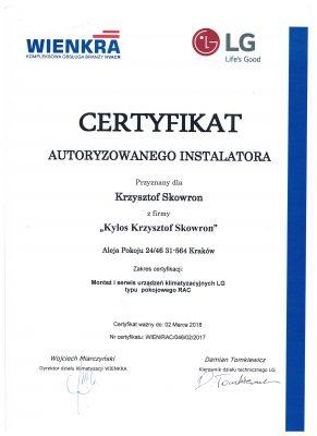 certyfikat LG CAC